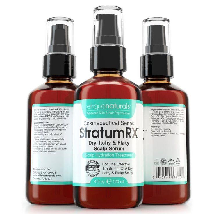 Scalp Treatment For Dry, Psoriasis, Eczema, Itchy And Flaky Scalp - StratumRX Serum And Scalp Moisturizer - Big 4 OZ Size