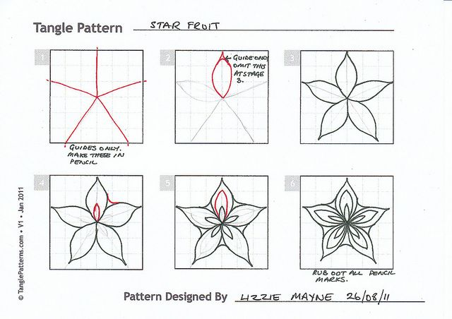(2011-10) Star fruit. Always good to know how to draw a star fruit, cute flower thing!