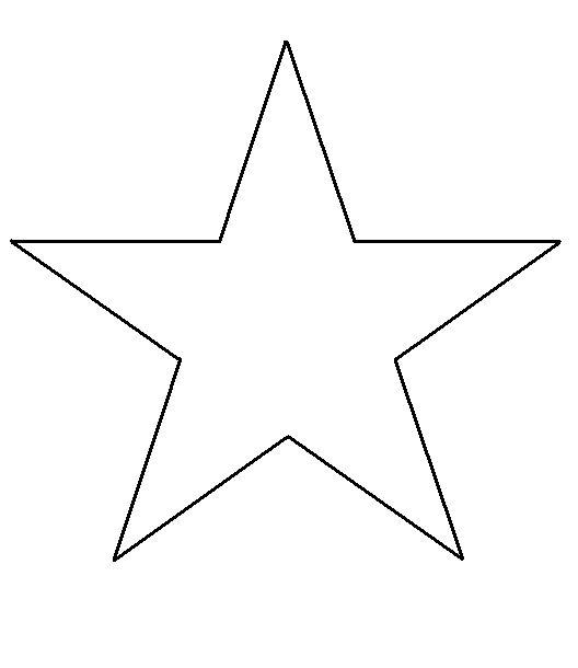 Free Print Shape Star Template | thegluegungirl: How to make: Shabby chic 3D cardboard stars