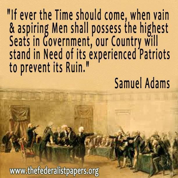 PATRIOTS ARE KNOCKING ON THE WHITE HOUSE DOOR,  YOU'RE BEING EVICTED AS  A  DISTRUCTIVE TENANT!  Samuel Adams