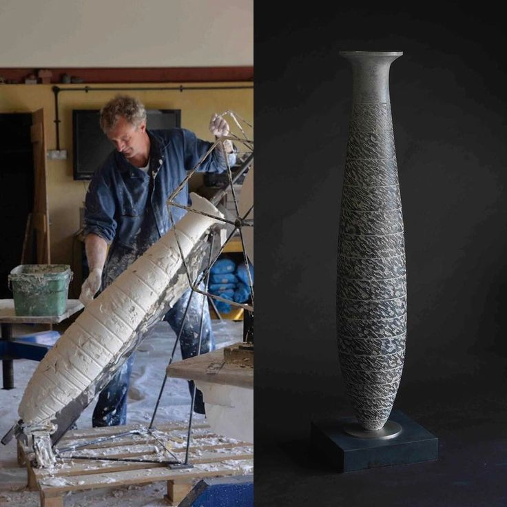 Every so often I like to challenge myself by making a sculpture not connected to 'animalier'. Vessel Amphora 2015 was made in conjunction with Inflection Point 2015 and was inspired by the antiquities.  A contemporary take on an ancient relic.  I had a profile laser cut out of steel and then built the plaster original up over a rotating axle.