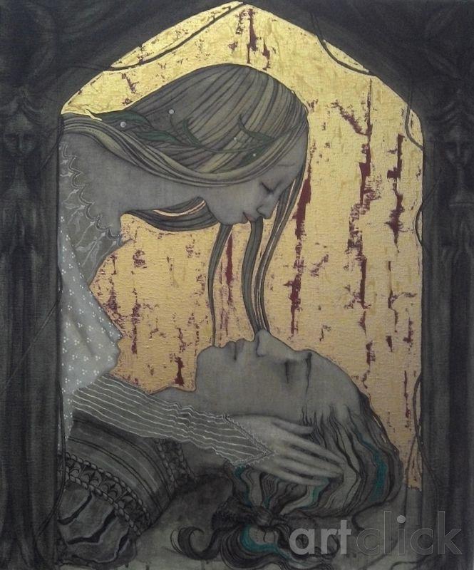 Deirdre Weeps for Naoise by Ann McKenna on ArtClick.ie