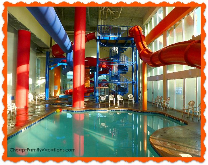 Dunes Village Resort Indoor Water Park..what fun!!! www.Cheap-FamilyVacations.com