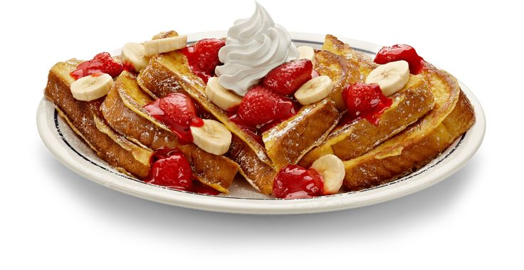 The #StrawberryBananaFrenchToast @IHOP - a sweet and satisfying breakfast topped with fruit