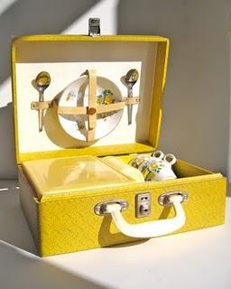 1950s yellow picnic set