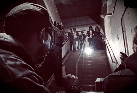 A real life zombie survival game in a mall in England. I NEED to go there