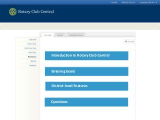 Rotary club central presentation