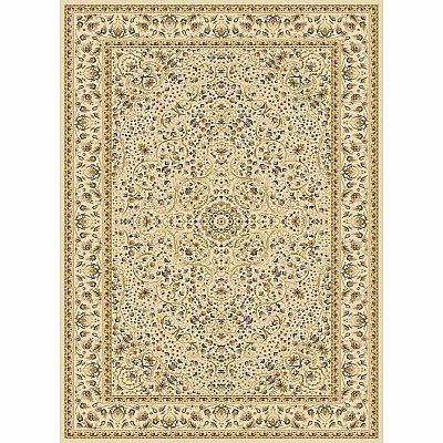 Persian carpet with traditional geometric decoration 'Ivory Jamal' rug