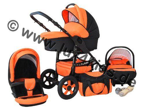 Lux4Kids Future 3 in 1 Cochecito Combinado juego completo (silla de coche incluye adaptadores, cubierta para la lluvia, mosquitero, ruedas giratorias de 10 colores) 04 naranja & negro  #madre http://carritosbebe.org/producto/lux4kids-future-3-in-1-cochecito-combinado-juego-completo-silla-de-coche-incluye-adaptadores-cubierta-para-la-lluvia-mosquitero-ruedas-giratorias-de-10-colores-04-naranja-negro/