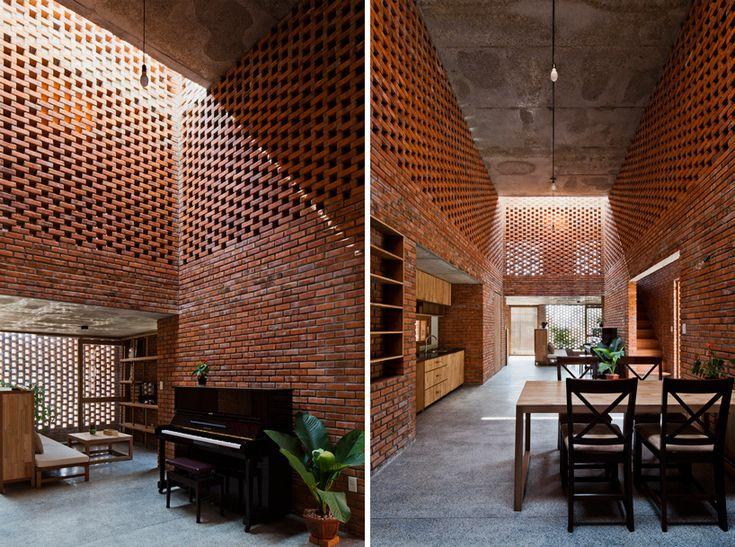 tropical space brick termitary house da nang city vietnam designboom