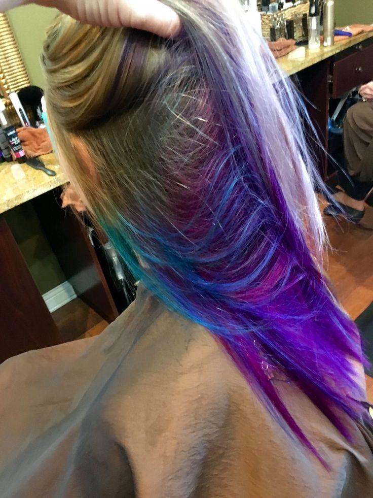 Best 25+ Purple peekaboo hair ideas on Pinterest | Purple ...