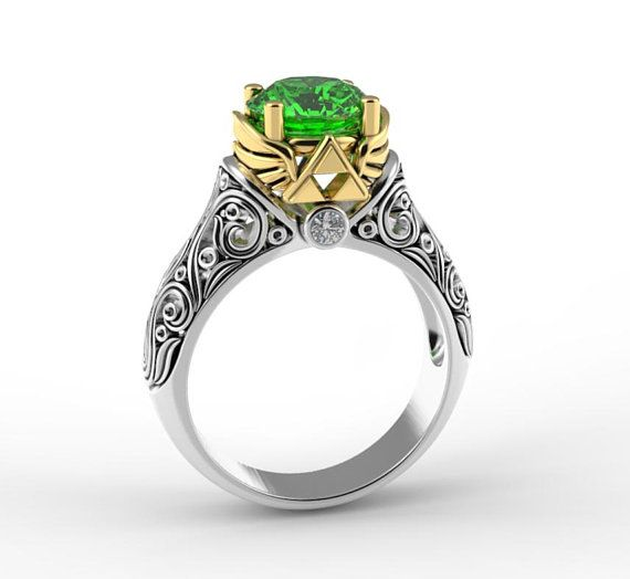 Legend Of Zelda Engagement Ring Gamer Engagement Ring Zelda Engagement Ring Fancy Engagement Rings Zelda Ring