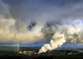 So thats where the pot of gold is hidden! Kilauea Volcano in Hawaii. #Hawaii #Travel #KilaueaVolcano