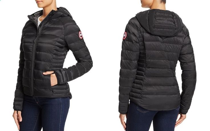 Canada Goose Brookvale Hooded Puffer Jacket Small Black Pre-owned MSRP $525 #CanadaGoose #QuiltedJackets