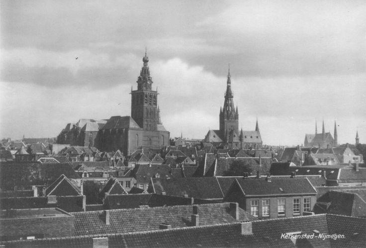 Skyline of Nijmegen before the 1944 bombardment.
