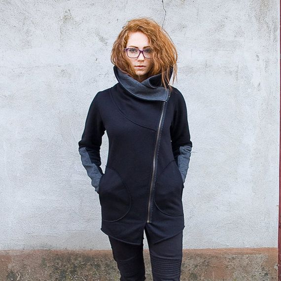 Women's Sweatshirt Sweatshirt with Asymmetrical by clothesNavaho