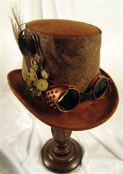 Steampunk Goggles and Hat: Brown Steampunk, Steampunk Tops Hats, Steampunk Costumes, Men Brown, Google Search, Steam Punk, Steampunk Hats, Steampunk Goggles, Men Steampunk