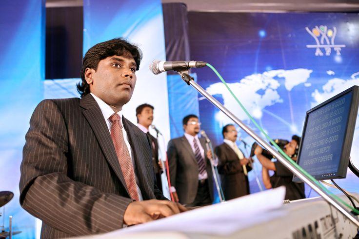 Worship service in AFT church, Chennai led by Rev. Jeevan Chelladurai