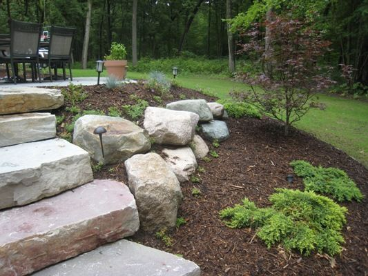Create A Beautiful Retaining Wall With Natural Rockery