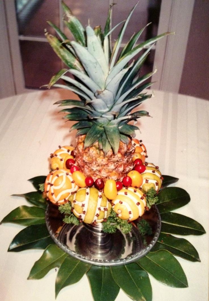 Best fruit centerpiece images on pinterest