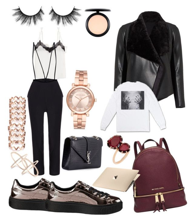 """Yeah yeah"" by madisonkiss on Polyvore featuring La Perla, The Kooples, Michael Kors, Puma, BB Dakota, Yves Saint Laurent, MAC Cosmetics, Polaroid and Annoushka"