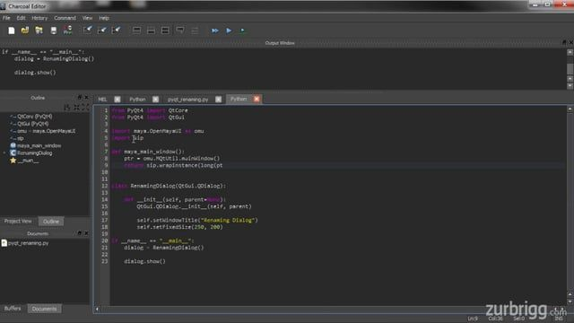 In the first part of this PyQt for Maya project, users will learn how to create a Qt window, by extending the QDialog class, and parent it to the Maya main window.  For source code and additional tutorials visit: http://zurbrigg.com