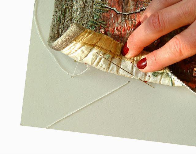 The Textile Cuisine: How to frame textile artwork? / Jak oprawiać tkaninę?