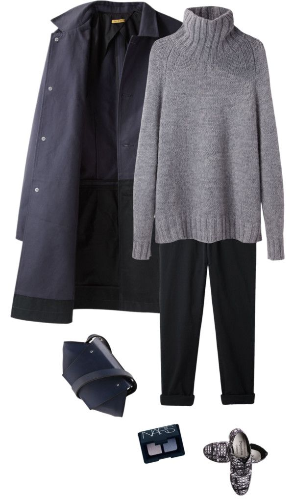 trench by fabuluz featuring a ribbed turtleneck ❤ liked on Polyvore