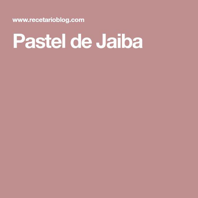 Pastel de Jaiba