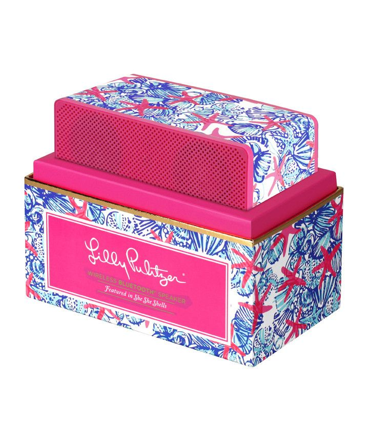 Lilly Pulitzer Wireless Bluetooth Speaker- She She Shells #lilly-pulitzer