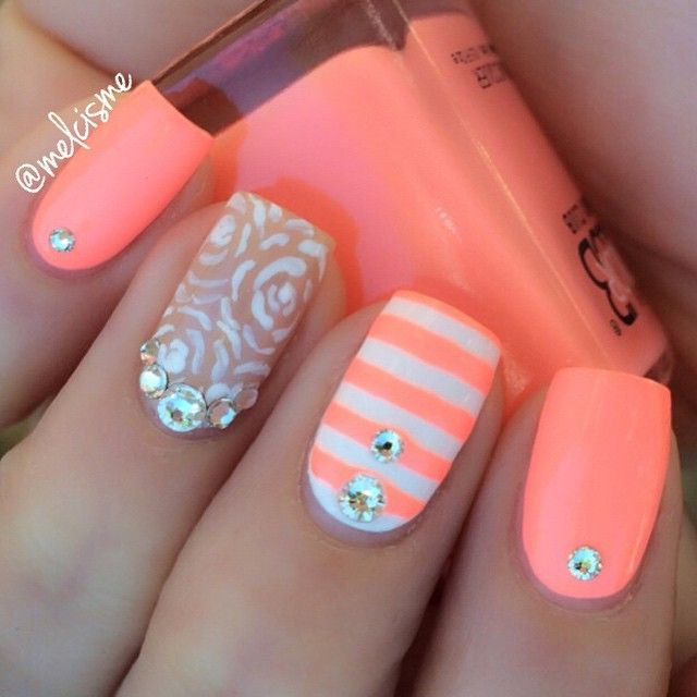 1281 best nail art images on pinterest cute nails nail design this mani was inspired by my girl sonia east austin clear swarovski crystals medium straights prinsesfo Gallery