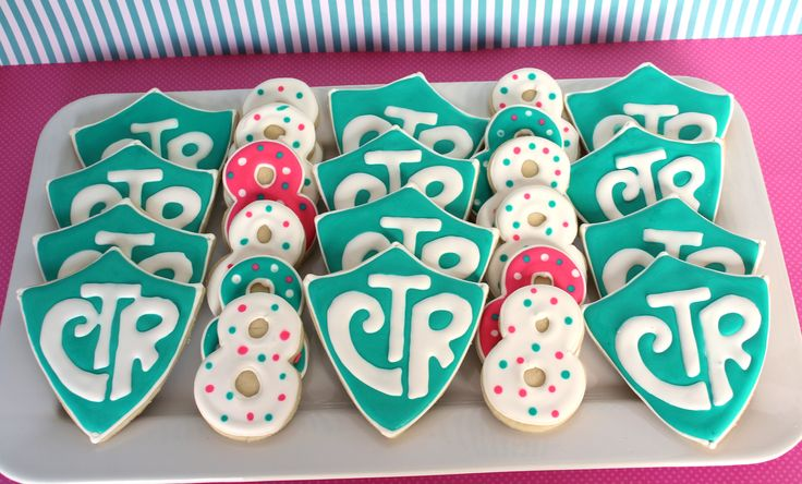 """It's Great to be 8! And CTR cookies. CTR stands for """"choose the right."""" These are to celebrate an LDS baptism."""