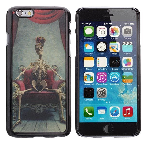 Sale 14% (2.19$) - Skeleton Lord 3D Pattern PC Back Cover Protection Case For iPhone 6