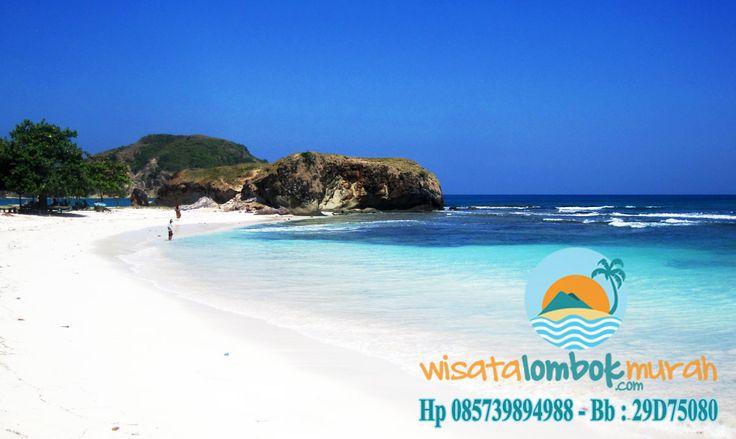 Wisata Pantai tanjung Aan lombok.