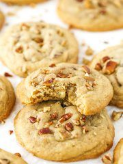 These Butter Pecan Cookies are full of crunch, soft, chewy and buttery! They get even better the second day too, making them a great cookie to make ahead! So yesterday we officially closed on our new house! Buying and selling a house is SUCH a process, it was a huge relief to at least be …