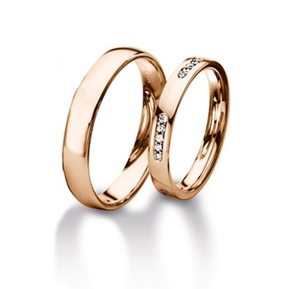 High polish ring - Furrer Jacot Magiques in red gold 3.00mm