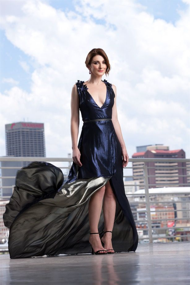 GLAMOUR's Most GLAMOURous 2015! Louise Carver What are the three most GLAMOURous things we'd find in your wardrobe? 'A sparkly, navy evening gown by Vasselina Pentcheva, a cherry-red, knee-length formal dress by Gert-Johan Coetzee, and a pair of nude Dior heels that I bought in New York.'