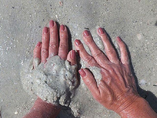 Gellak zand Bruin rood  #Gellak #Nagels #Nails