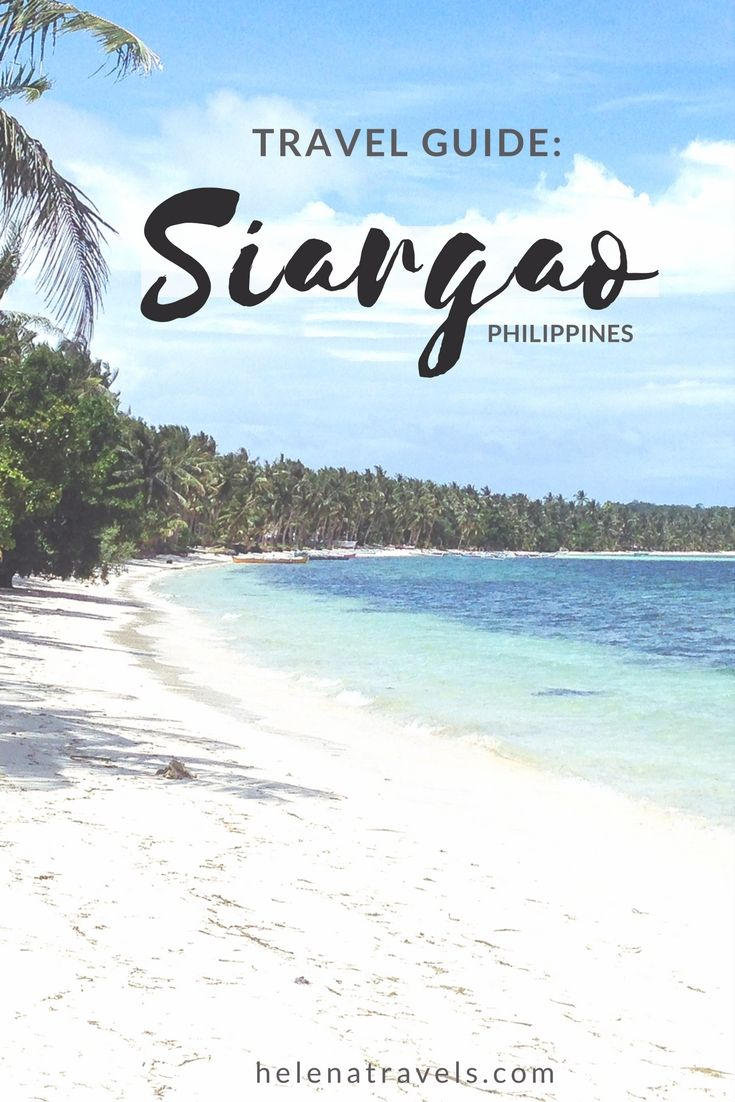 Your ultimate travel guide to Siargao island in the Philippines.