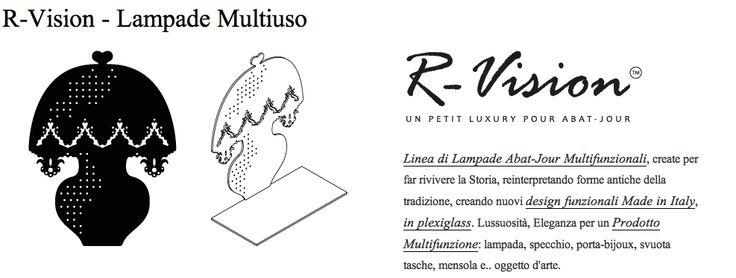 ILLUMINAZIONE e ARREDO D'INTERNI - Linea di Lampade Abat-Jour Multifunzionali, create per far rivivere la Storia, reinterpretando forme antiche della tradizione, creando nuovi design funzionali Made in Italy, in plexiglass. Lussuosità, Eleganza per un Prodotto Multifunzione: lampada, specchio, porta-bijoux, svuota tasche, mensola e.. oggetto d'arte. http://conceptstore.infinitodesign.it/collezioni/r-vision-linea-di-lampade-multifunzionali-abat-jour