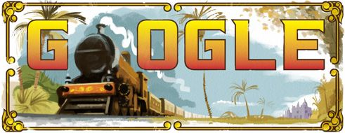 Google doodle marks India's first passenger train journey's 160th anniversary