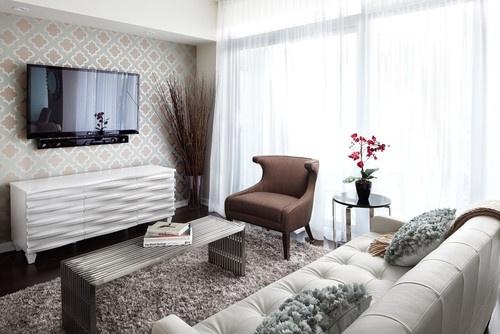Queensway living contemporary living room #home decor #Design #living room #decorating ideas