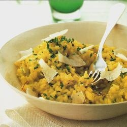 Saffron and herb risotto