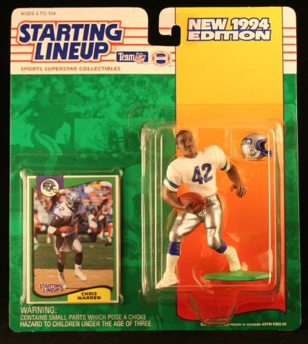 CHRIS WARREN / SEATTLE SEAHAWKS 1994 NFL Starting Lineup Action Figure & Exclusive NFL Collector Trading Card