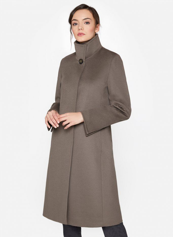 292a13b8d319b5 Taupe coat with button   Fashion   Coat, Wool coat, Buttons
