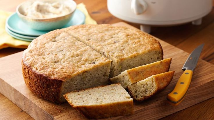 There's no better way to use your overripe bananas than in this slow cooker banana bread. Using Bisquick™ mix as the base makes assembly quick and easy.