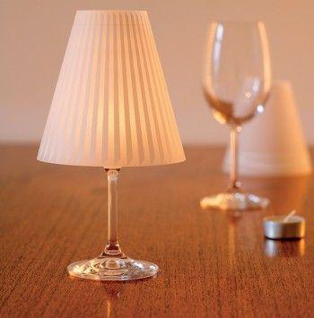 Schöne Helene Lampenschirm auf Weinglas