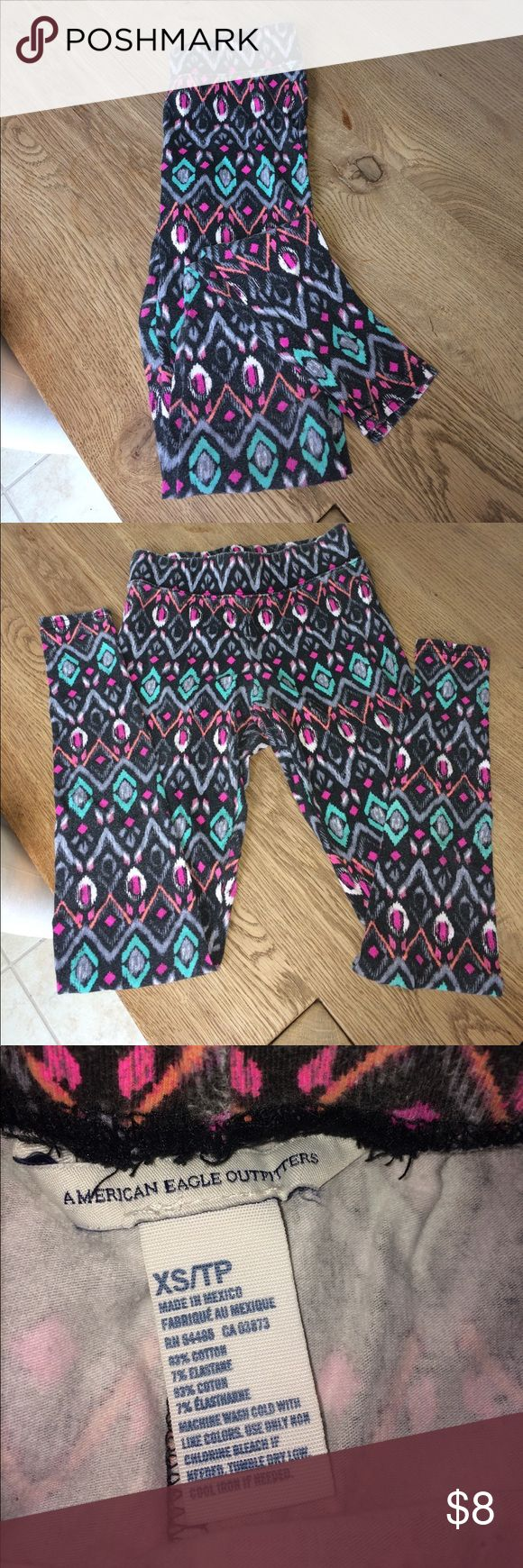 American Eagle Aztec Print Leggings Really good condition no rips or stains. I just don't wear them anymore and I'm trying to make some more room in my closet. American Eagle Outfitters Pants Leggings