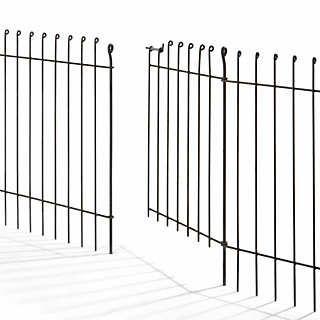 Tor Steckzaun Stahlsegmente  | Gartenausstattung