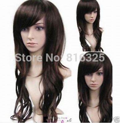 БЕСПЛАТНО P & P>>>> длинные vogue коричневые волнистые волосы парики для женщин парик Discount35 %